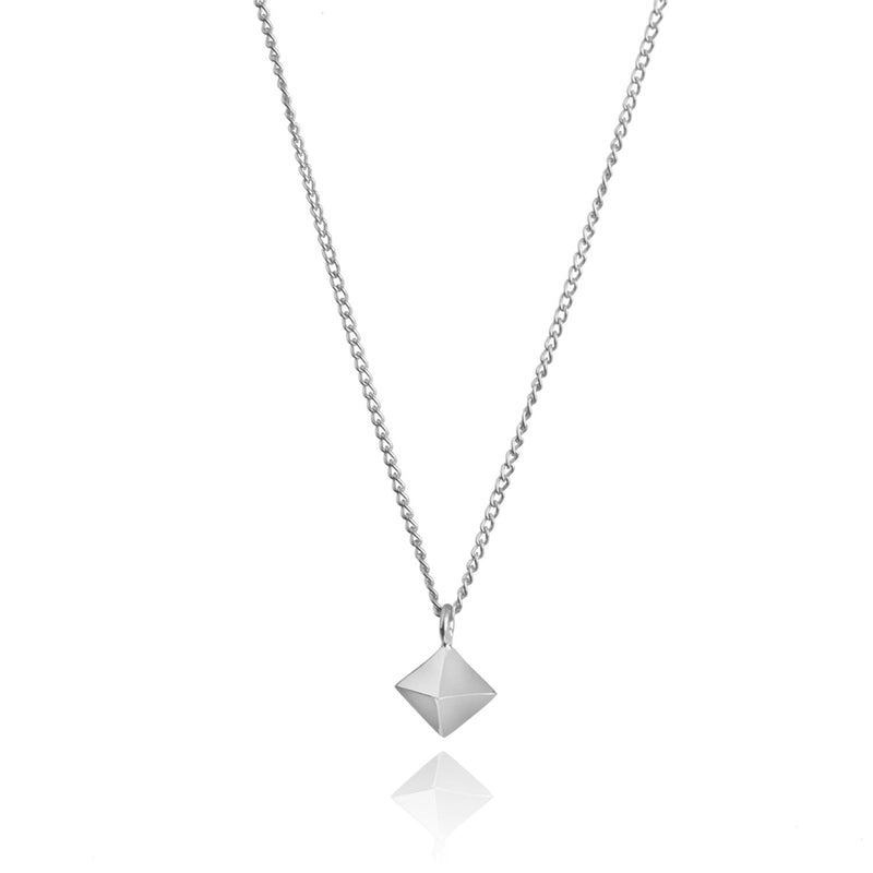 Mini Octahedron Necklace - Silver - Myia Bonner Jewellery