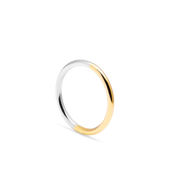 Two-tone Round Band - 9k Yellow Gold & Silver - Myia Bonner Jewellery