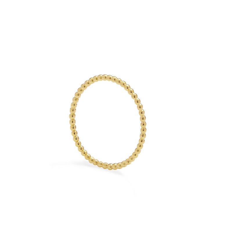 Skinny Sphere Stacking Ring - 9k Yellow Gold - Myia Bonner Jewellery