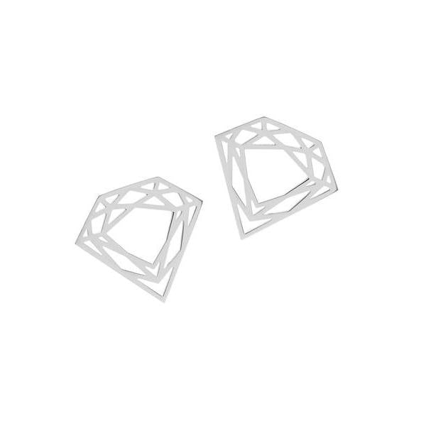 Classic Diamond Stud Earrings - Silver - Myia Bonner Jewellery