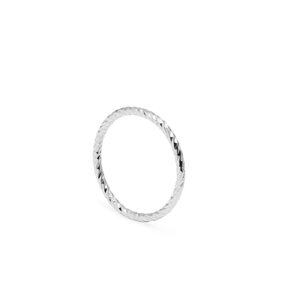 Faceted Diamond Ring - Silver - Myia Bonner Jewellery
