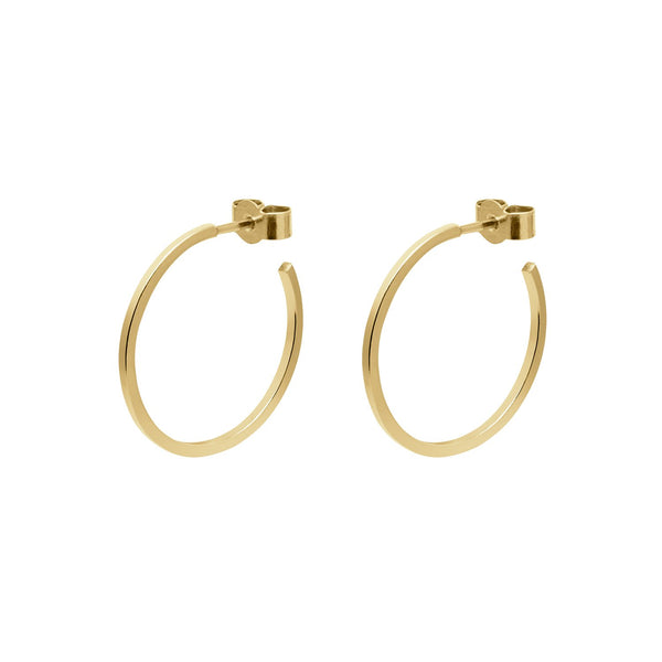 Medium Hoop Earrings - Gold - Myia Bonner Jewellery