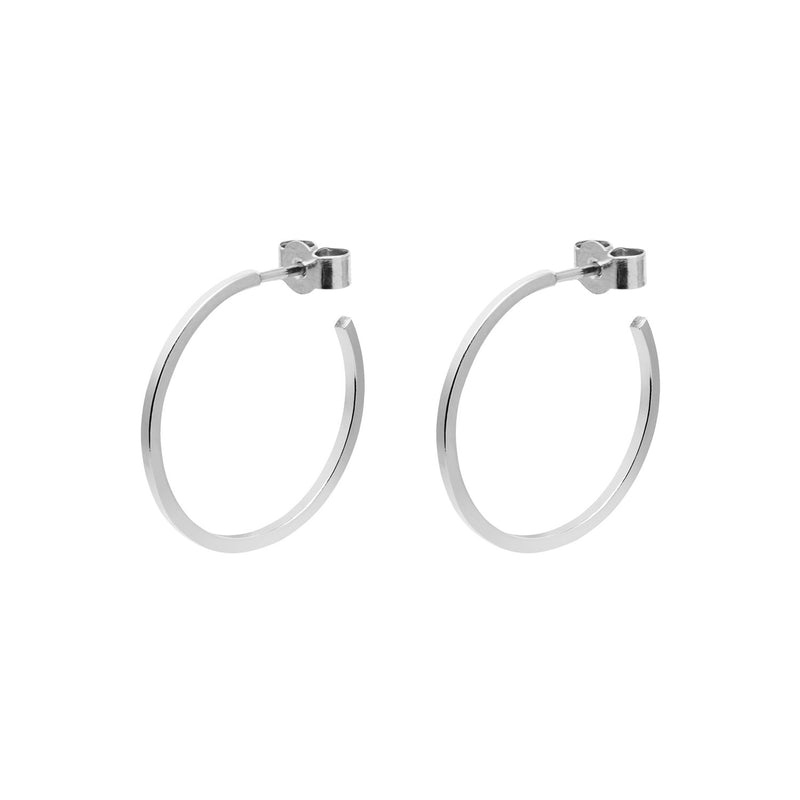 Medium Hoop Earrings - Silver - Myia Bonner Jewellery