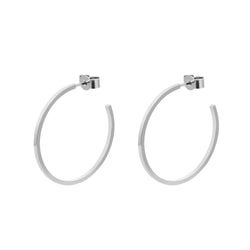 Large Hoop Earrings - Silver - Myia Bonner Jewellery