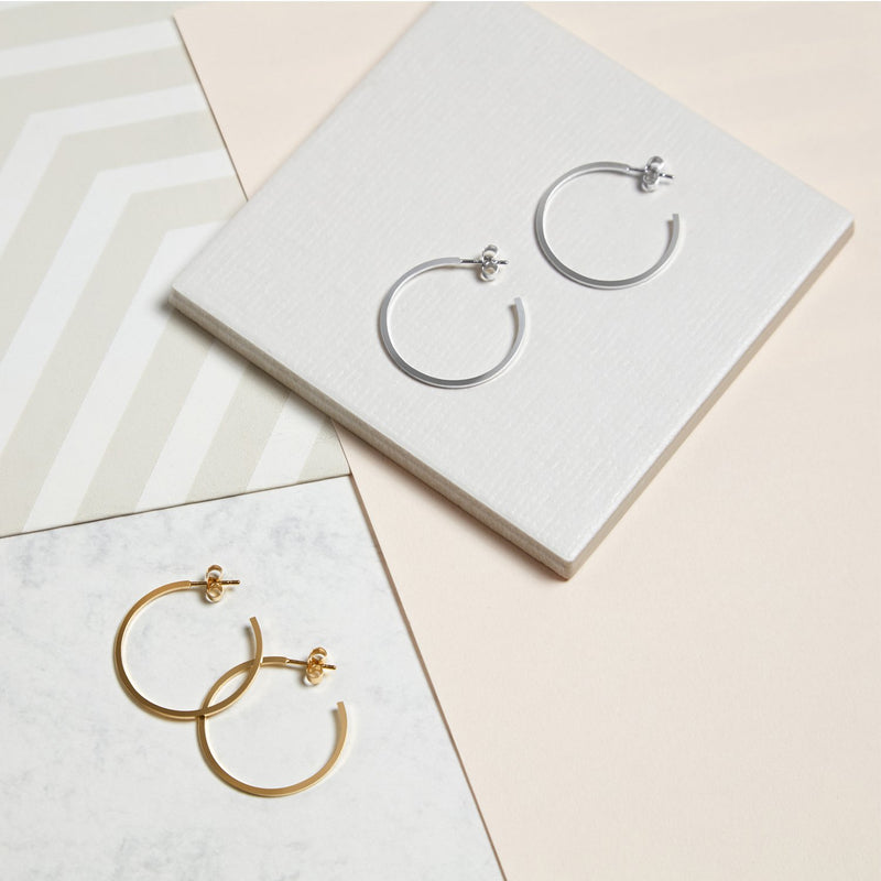 Large Hoop Earrings - Gold - Myia Bonner Jewellery