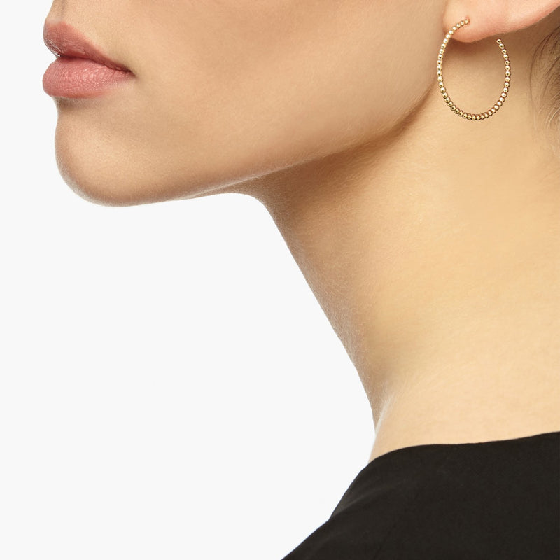 Medium Sphere Hoop Earrings - Gold - Myia Bonner Jewellery