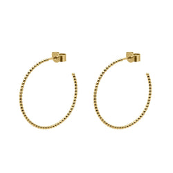 Large Sphere Hoop Earrings - Gold - Myia Bonner Jewellery
