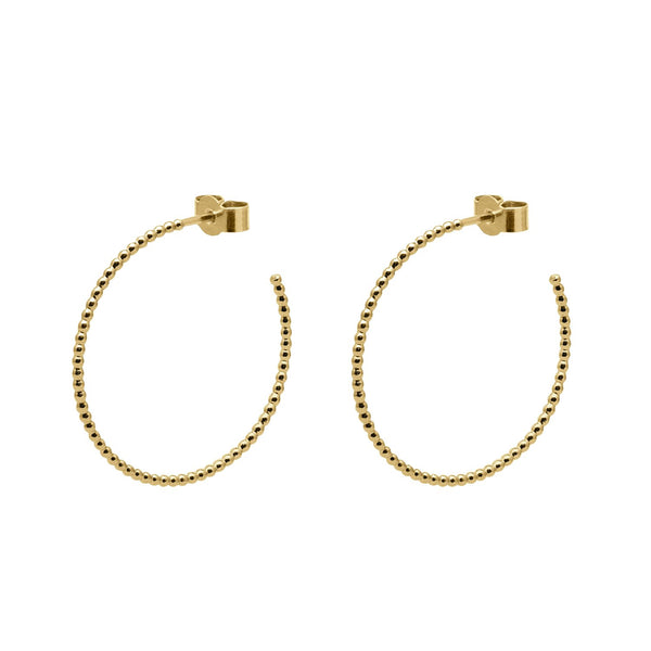 Large Ball Hoop Earrings - Gold - Myia Bonner Jewellery