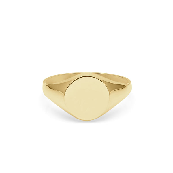 9k Yellow Gold Round Signet Ring - Myia Bonner Jewellery
