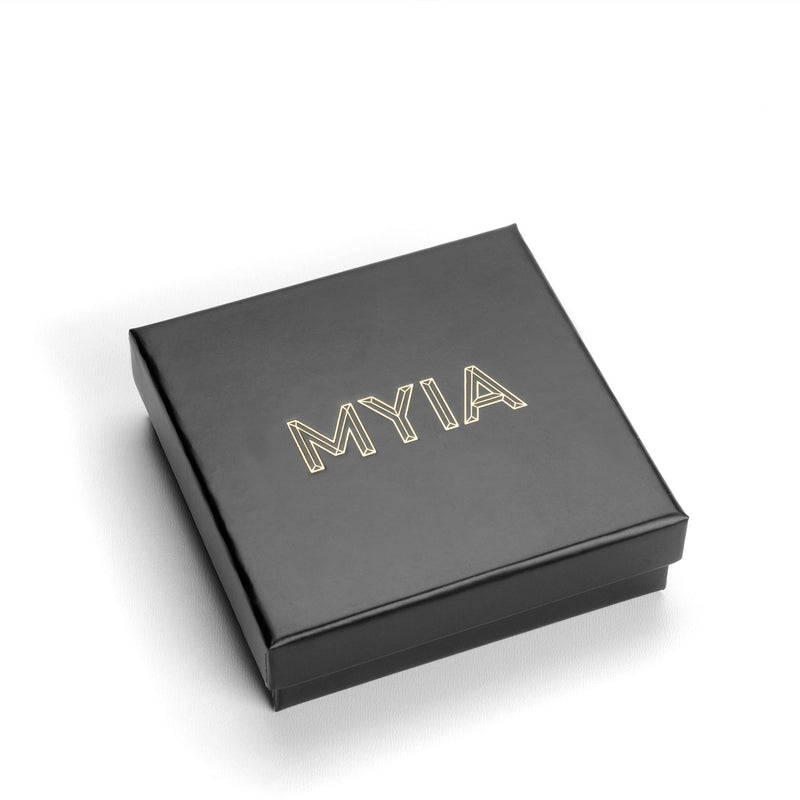 9k Yellow Gold & Black Diamond Stud Earrings - Myia Bonner Jewellery