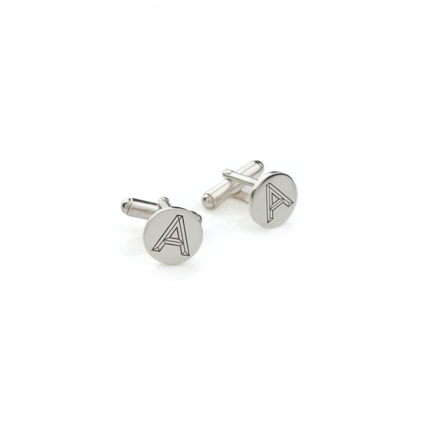 Personalised Facett Initial Cufflinks - Silver - Myia Bonner Jewellery