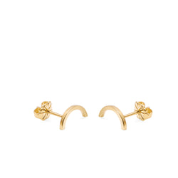 Arc Stud Earrings - Gold - Myia Bonner Jewellery