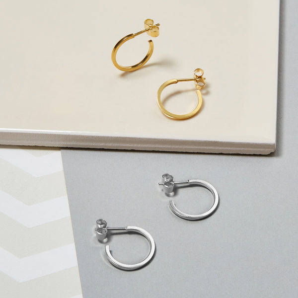 Mini Hoop Earrings - Gold - Myia Bonner Jewellery