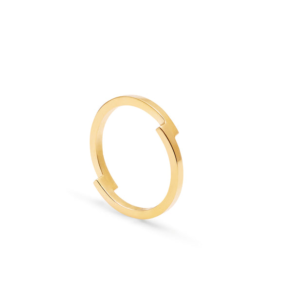 Double Arc Ring - 9k Yellow Gold - Myia Bonner Jewellery