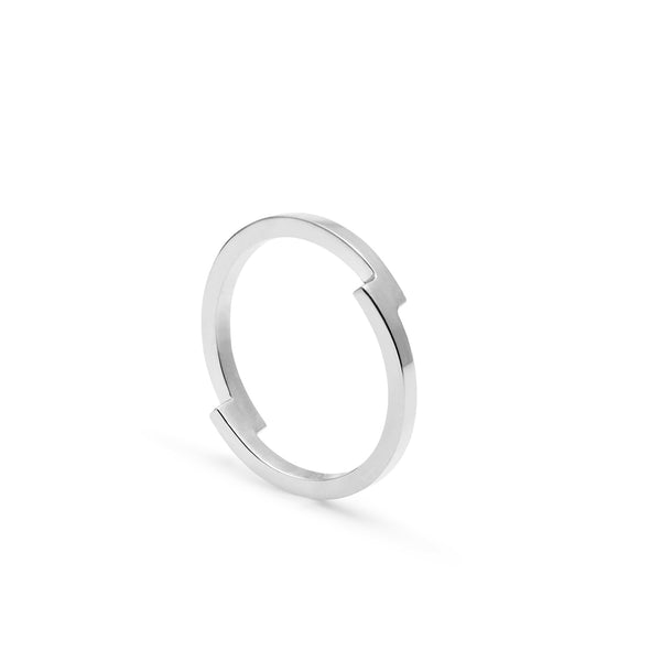 Double Arc Ring - Silver - Myia Bonner Jewellery