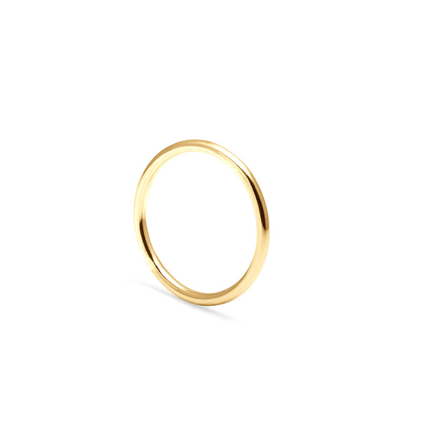 Halo Round Ring - 9k Yellow Gold