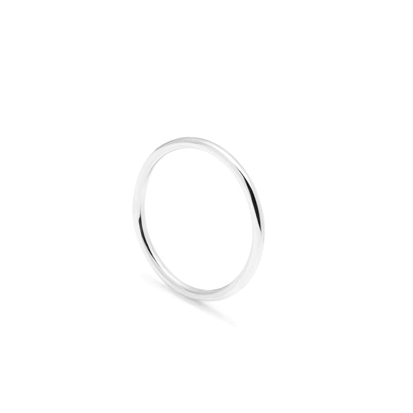 Halo Round Ring - 9k White Gold