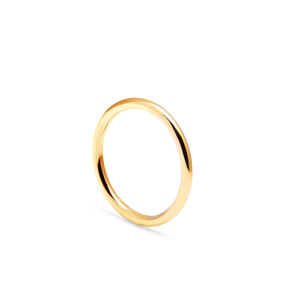 Halo Round Band - 9k Yellow Gold