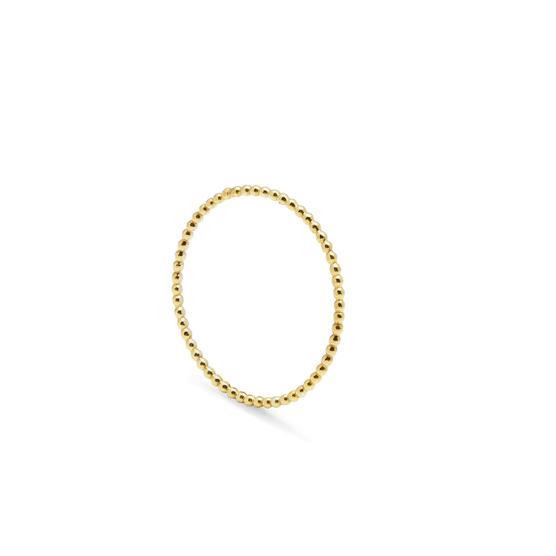 Ultra Skinny Ball Stacking Ring - Gold