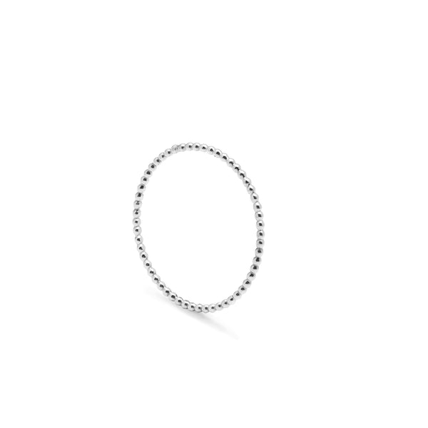 Ultra Skinny Sphere Stacking Ring - Silver