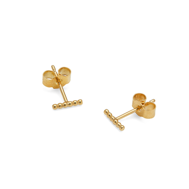 Mini Ball Bar Stud Earrings - Gold - Myia Bonner Jewellery