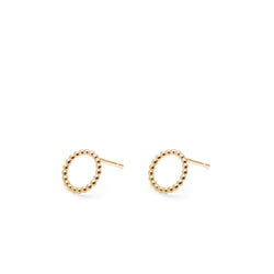 Circle Sphere Stud Earrings - Gold - Myia Bonner Jewellery