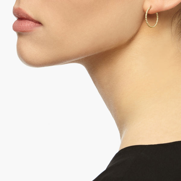 Mini Sphere Hoop Earrings - Gold - Myia Bonner Jewellery