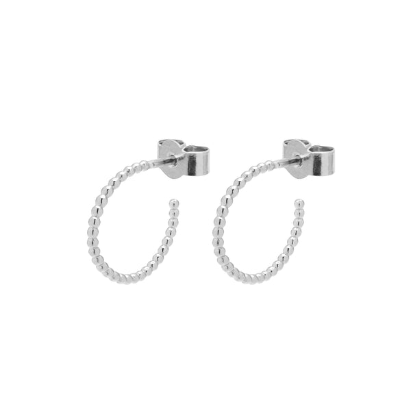 Mini Sphere Hoop Earrings - Silver - Myia Bonner Jewellery