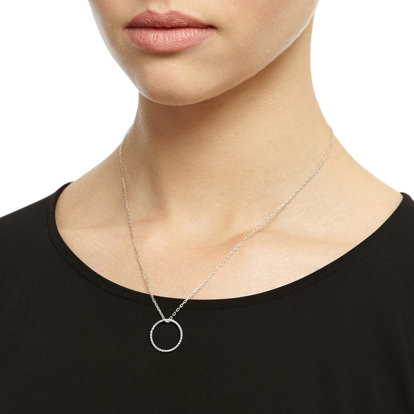 Single Ball Circle Necklace - Silver - Myia Bonner Jewellery