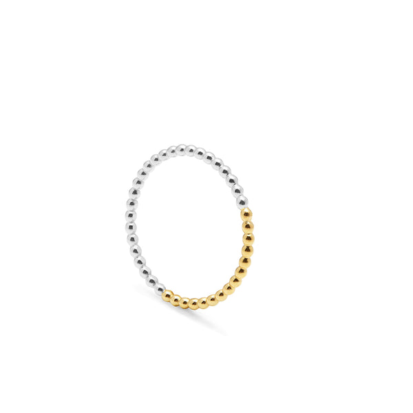 Golden Ratio Sphere Ring - 9k Yellow Gold & Silver