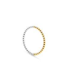 Two-tone Sphere Ring - 9k Yellow Gold & Silver