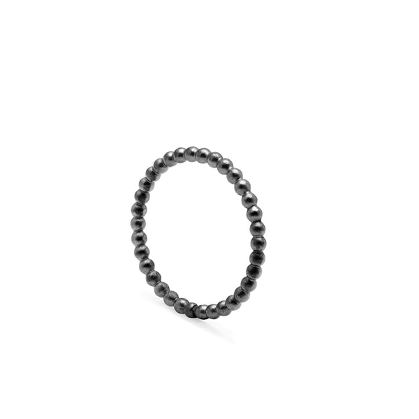 Ball Band - Oxidised Silver