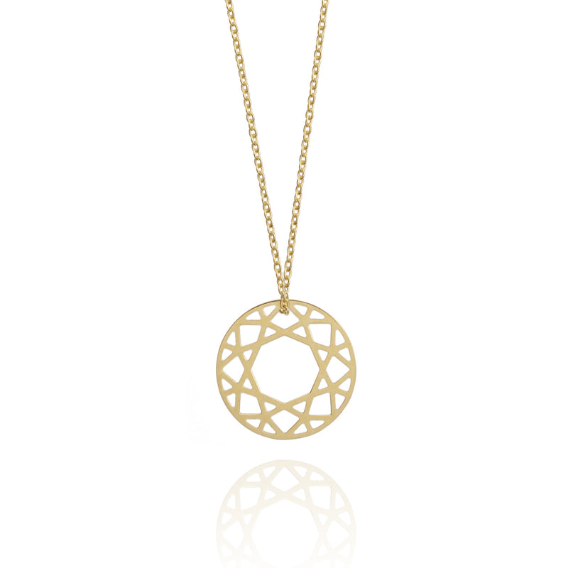 Small Brilliant Diamond Necklace - 9k Yellow Gold - Myia Bonner Jewellery