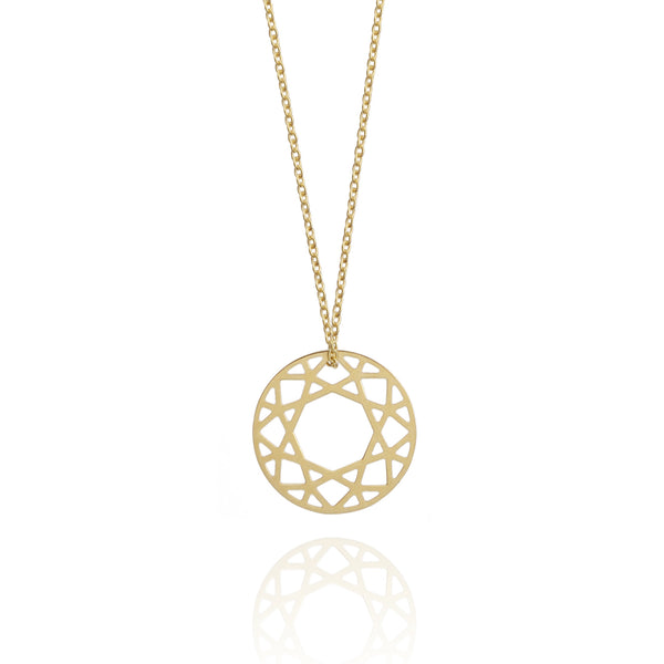 Small Brilliant Diamond Necklace - Gold - Myia Bonner Jewellery