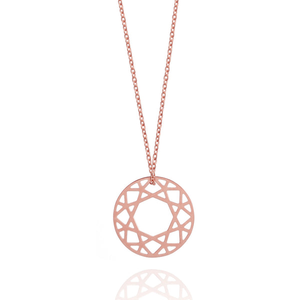 Small Brilliant Diamond Necklace - Rose Gold