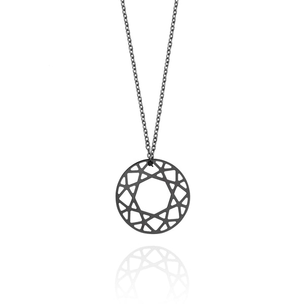 Small Brilliant Diamond Necklace - Black - Myia Bonner Jewellery