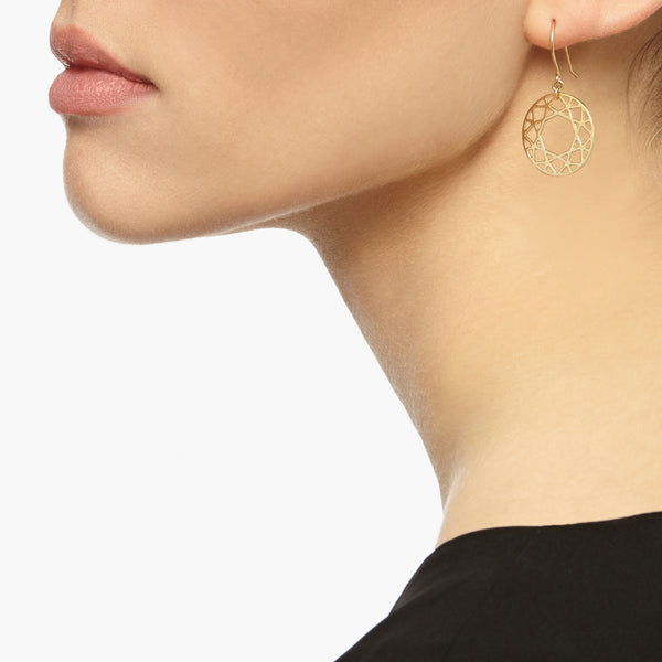 Brilliant Diamond Drop Earrings - Gold - Myia Bonner Jewellery