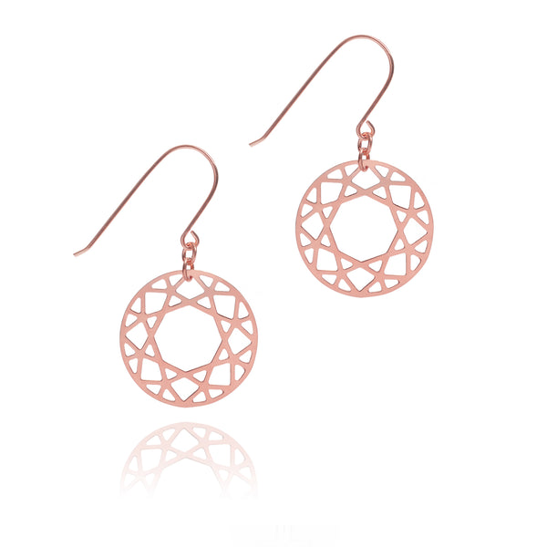 Brilliant Diamond Drop Earrings - Rose Gold - Myia Bonner Jewellery