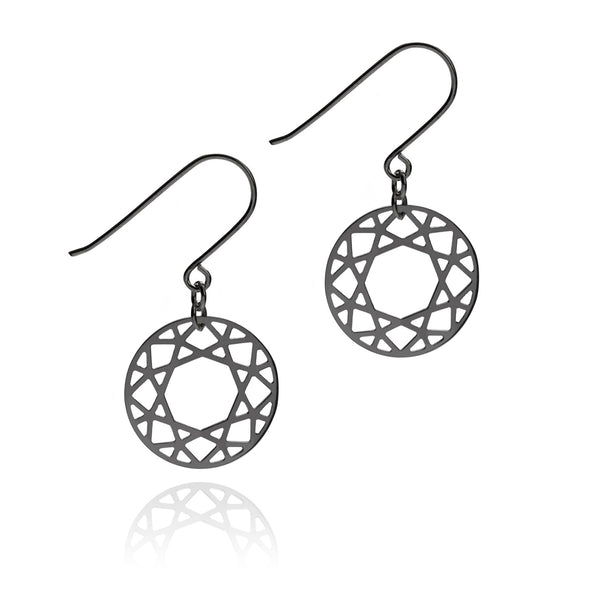Brilliant Diamond Drop Earrings - Black - Myia Bonner Jewellery