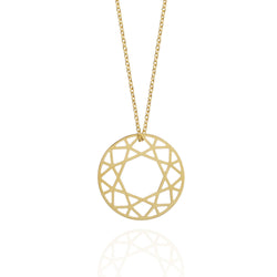 Medium Brilliant Diamond Necklace - Gold - Myia Bonner Jewellery