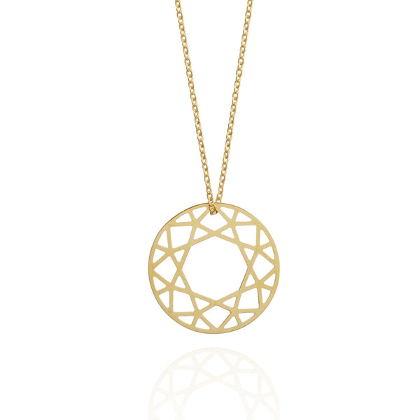 Brilliant Diamond Necklace - Gold - Myia Bonner Jewellery