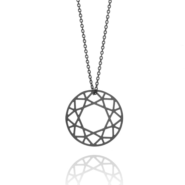 Medium Brilliant Diamond Necklace - Black - Myia Bonner Jewellery