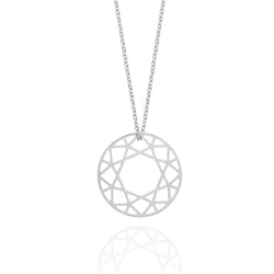 Medium Brilliant Diamond Necklace - Silver - Myia Bonner Jewellery