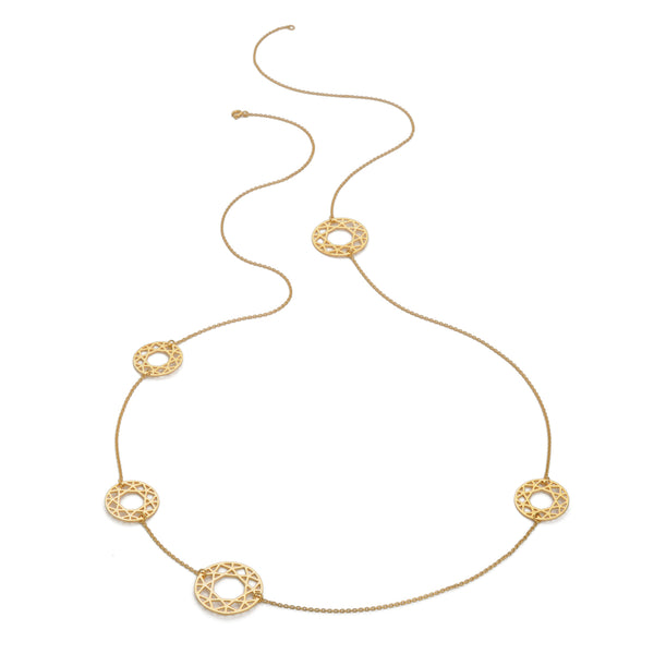 Multi-Brilliant Diamond Necklace - Gold - Myia Bonner Jewellery