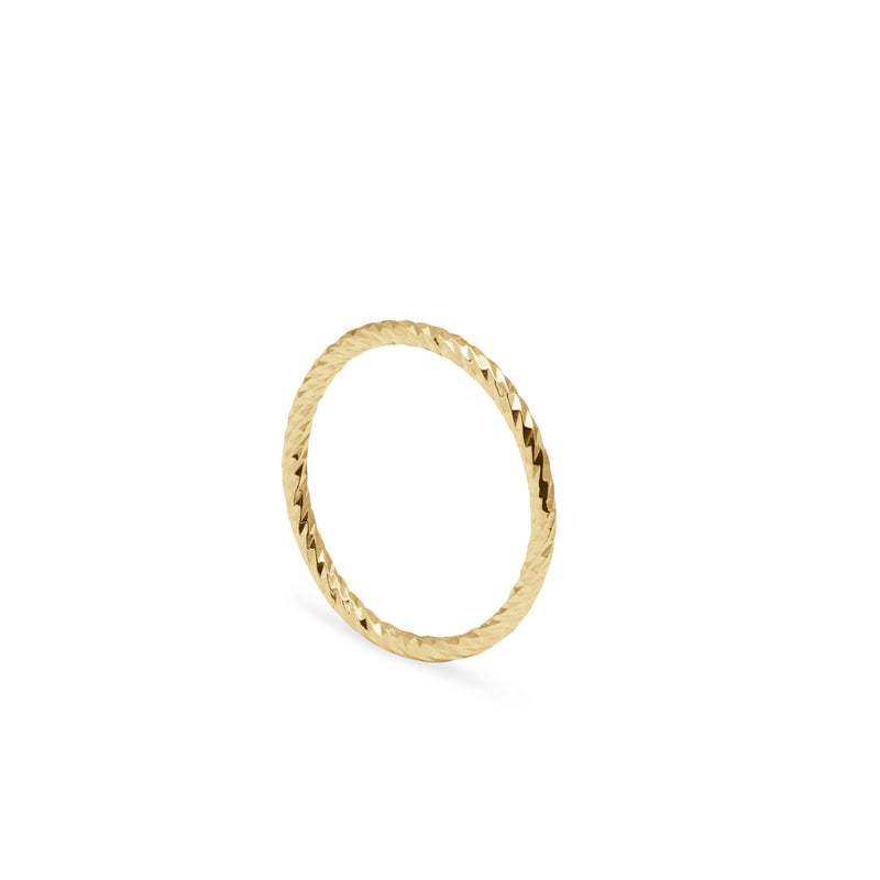 Faceted Diamond Ring - 9k Yellow Gold - Myia Bonner Jewellery