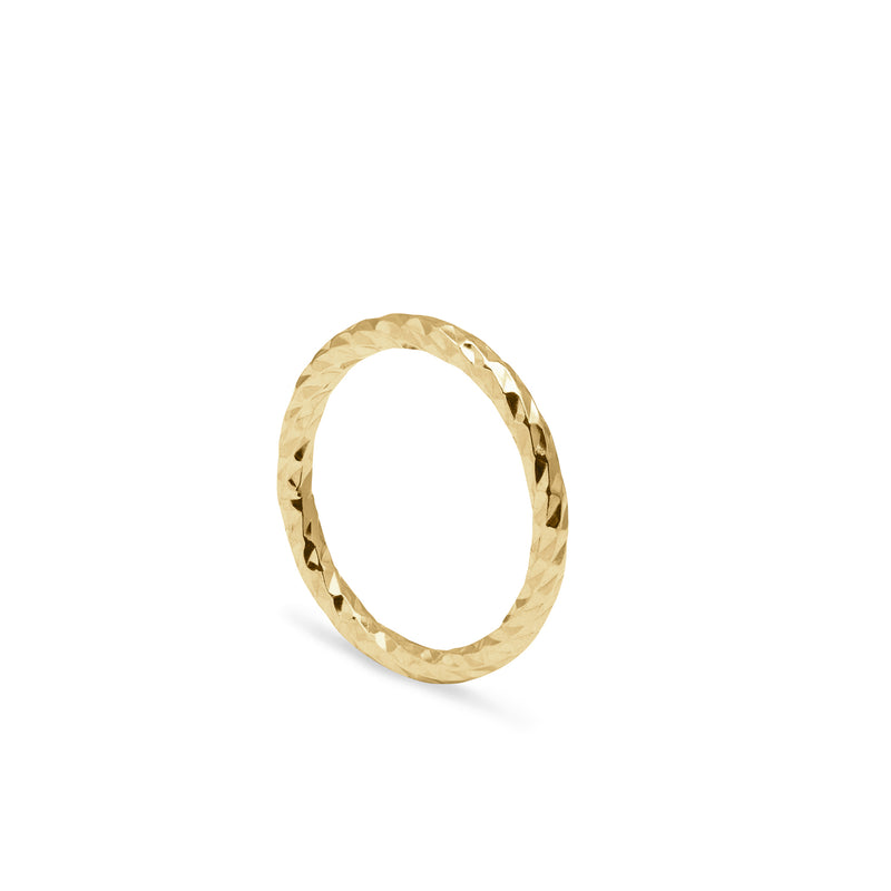Faceted Diamond Band - Gold - Myia Bonner Jewellery