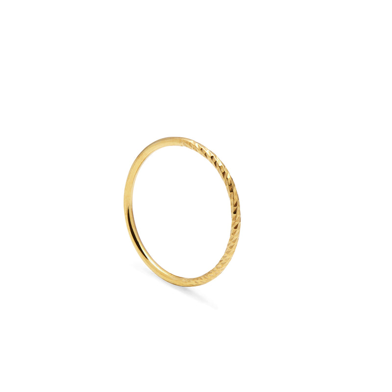 Diamond Paradox Skinny Stacking Ring - Gold - Myia Bonner Jewellery