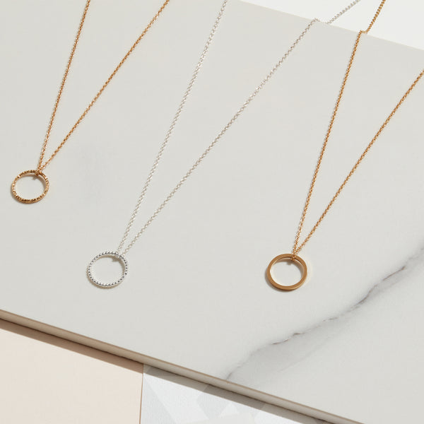 Diamond Circle Necklace - Silver - Myia Bonner Jewellery