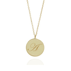 Initial A Edwardian Pendant - 9k Yellow Gold - Myia Bonner Jewellery