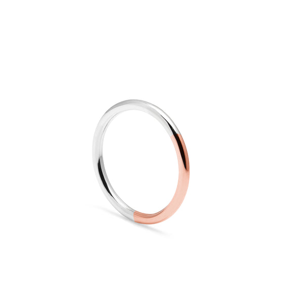 Golden Ratio Band - 9k Rose Gold & Silver